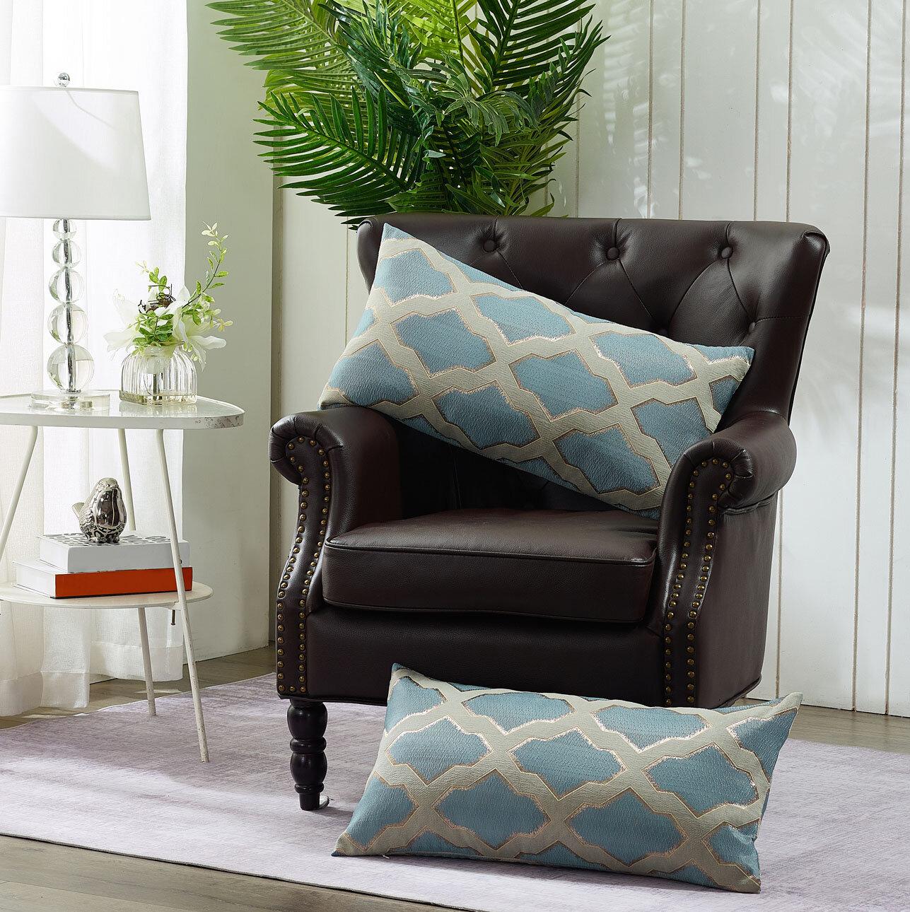 Red Barrel Studio Beedeville Geometric Lumbar Pillow Cover Reviews Wayfair