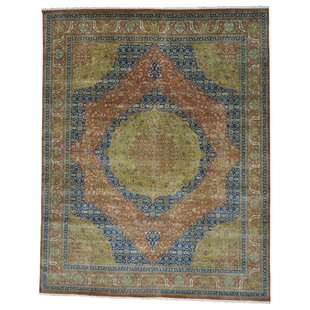 One-of-a-Kind Samons Vegetable Dyes 300 KPSI Hand-Knotted Blue/Green/Brown Area Rug ByAstoria Grand
