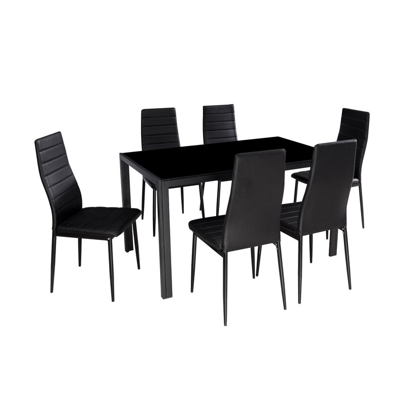 Renick Modern 7 Piece Dining Set