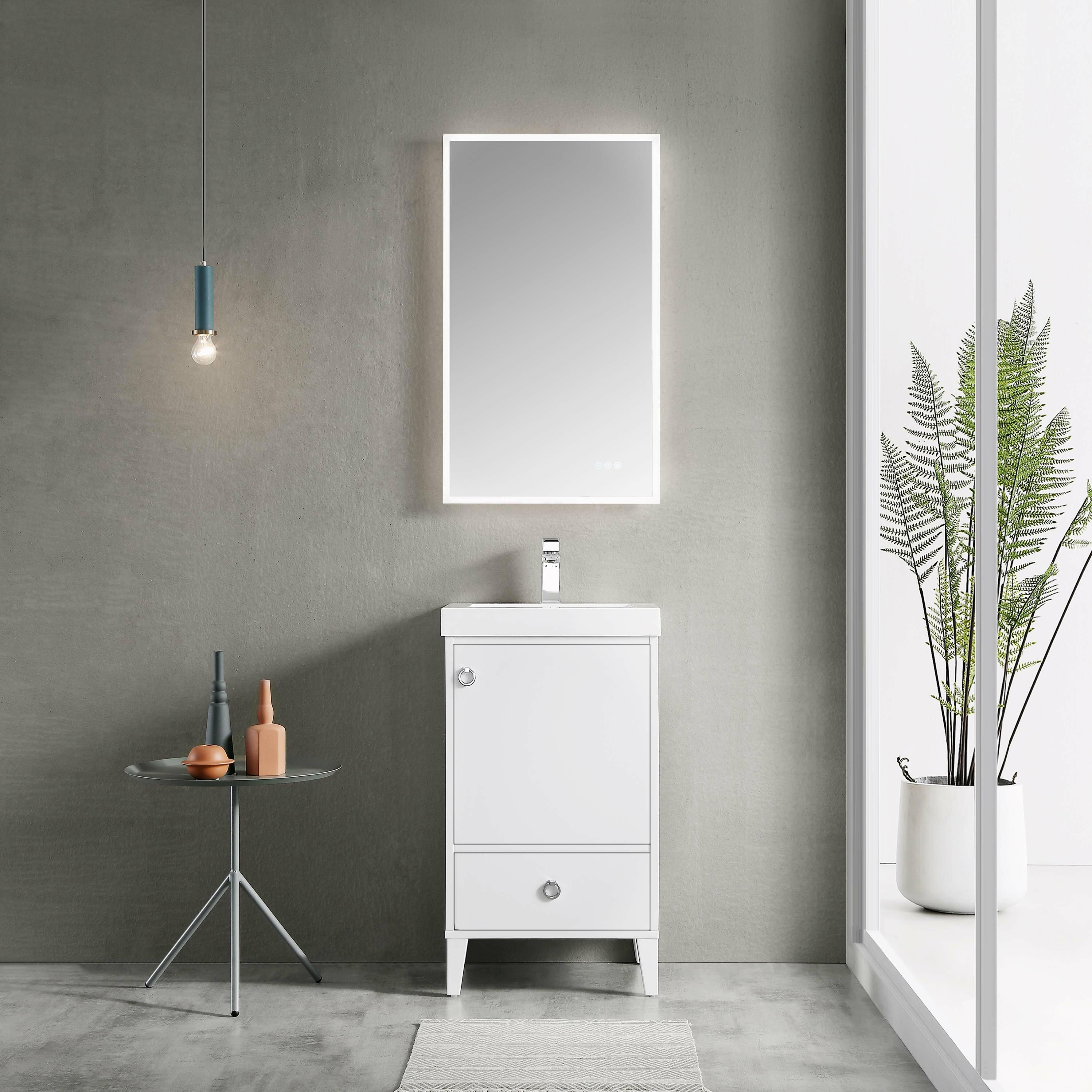 Ebern Designs Jez Waterproof Ergonomic Design 20 Single Bathroom Vanity Wayfair