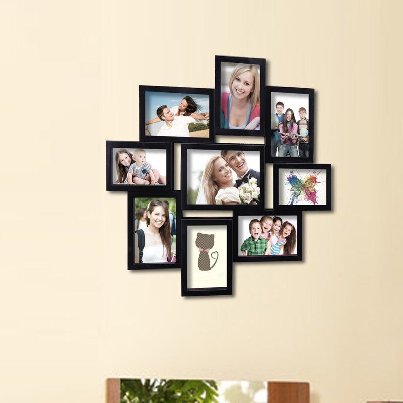 Adecotrading 9 Opening Decorative Wall Hanging Collage Picture Frame Reviews Wayfair