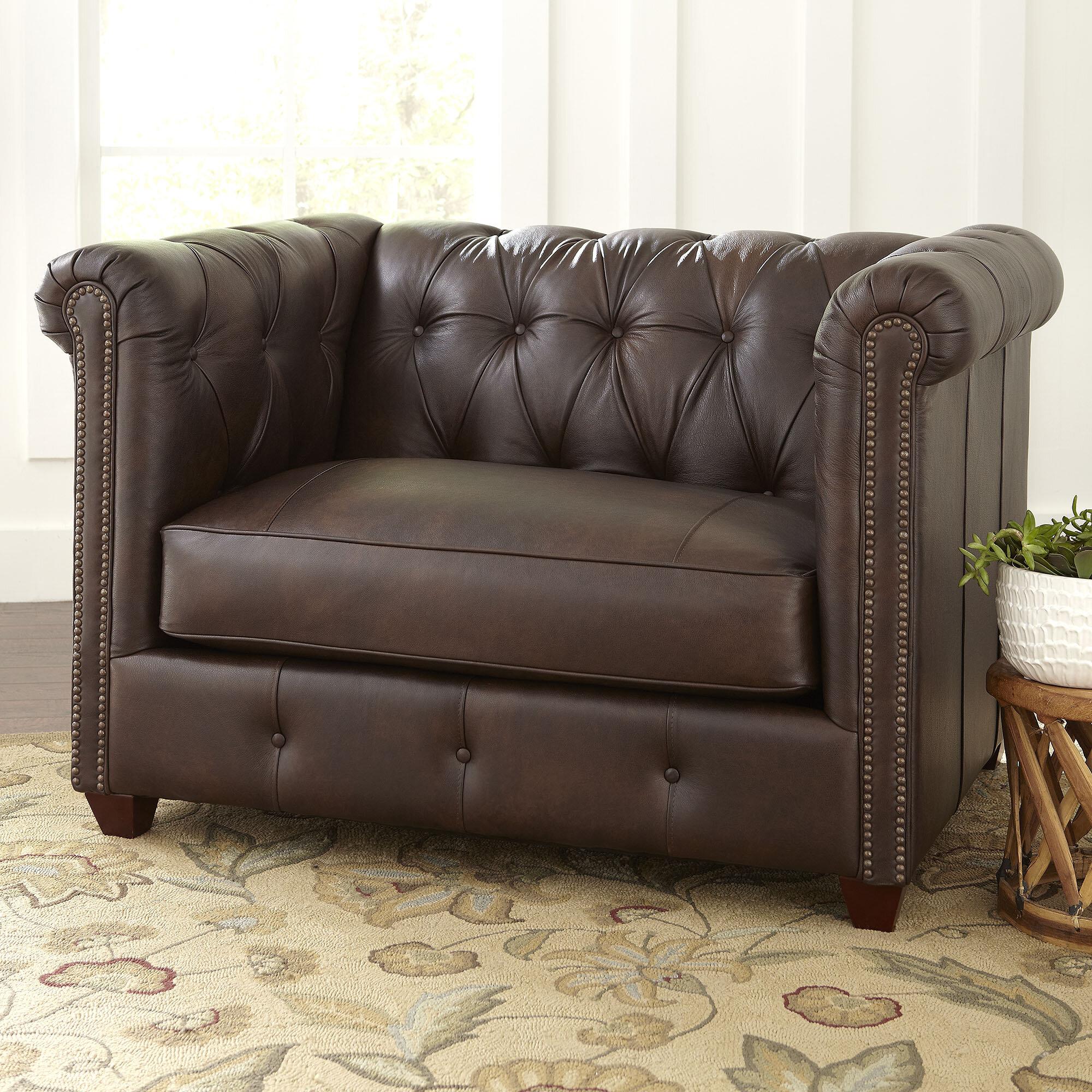 Genial Birch Lane™ Hawthorn Leather Chair | Wayfair