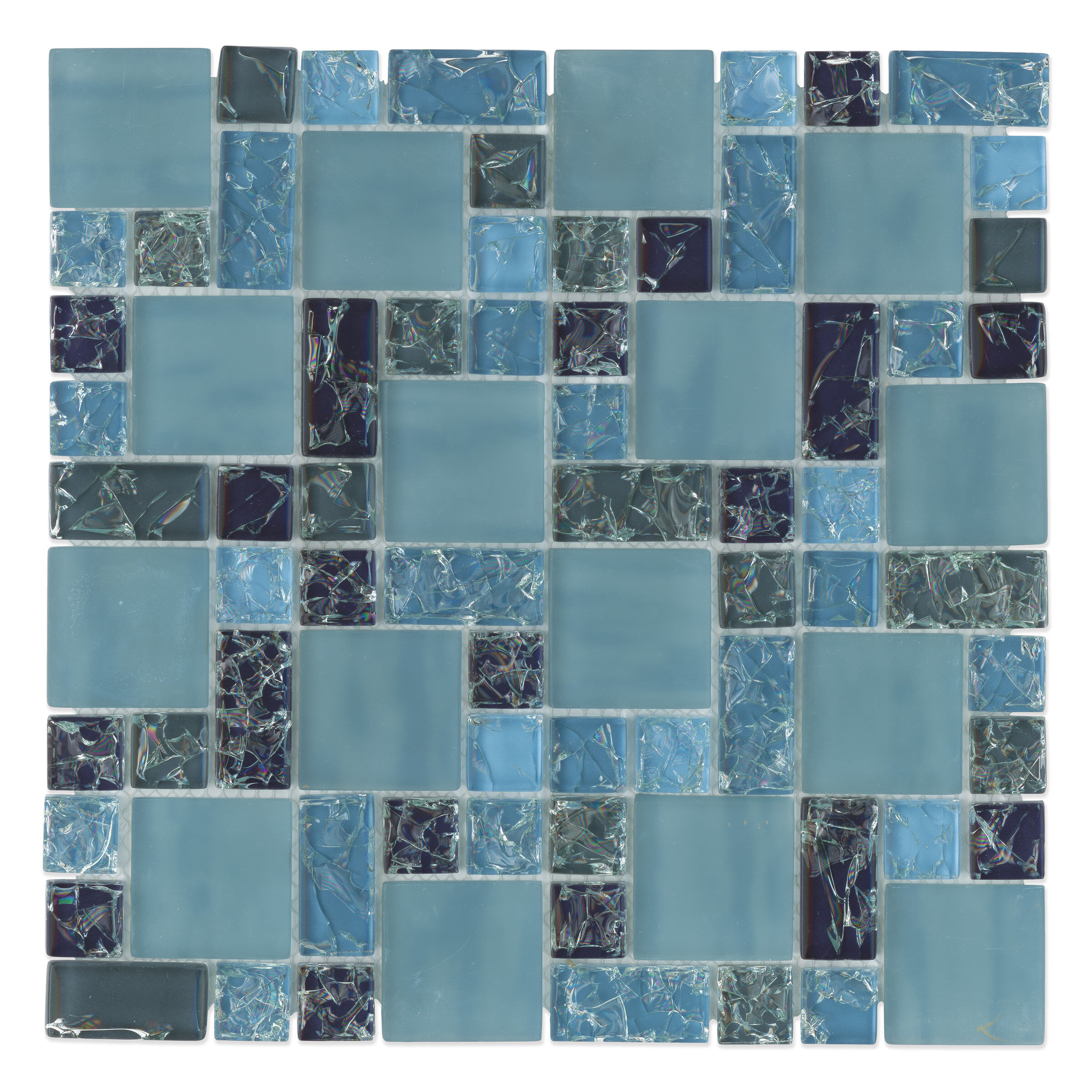 GSMT Staccato Mosaic Gloss Matte Tile in Blue | Wayfair