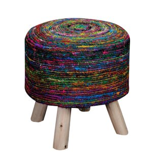Amgala Fabric Ottoman by Bungalow Rose