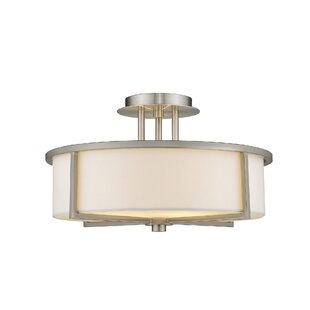 Rainer 3-Light Semi-Flush Mount by Brayden Studio