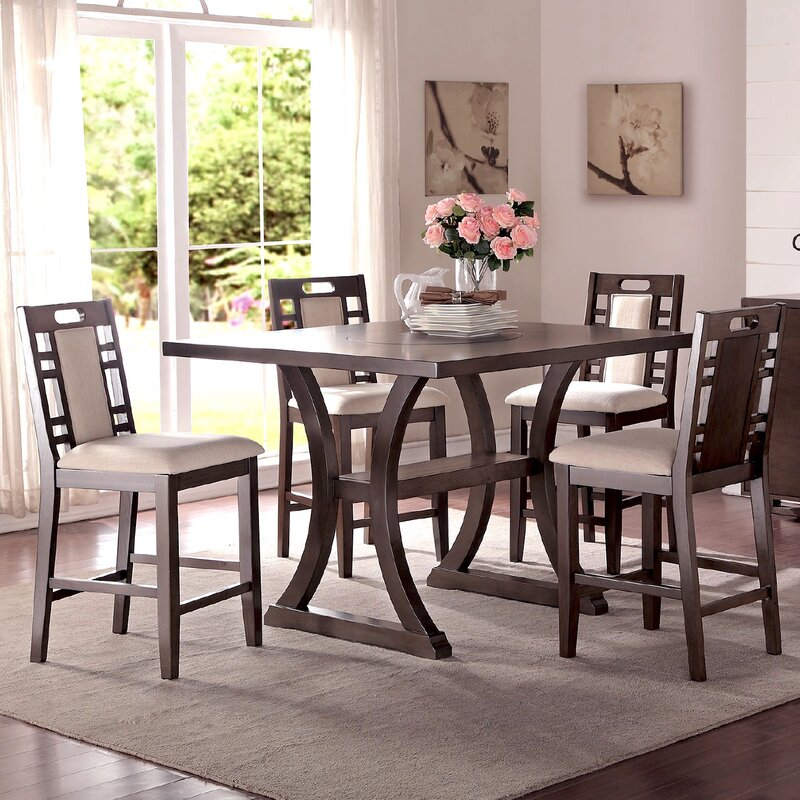 Infini Furnishings Alison 5 Piece Counter Height Dining Set ...