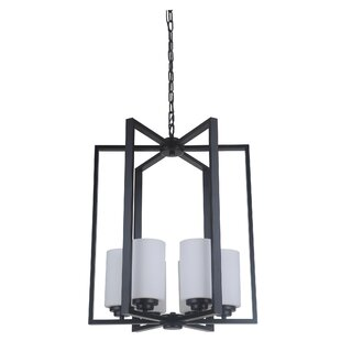 Keisuke 6-Light Geometric Chandelier by Latitude Run