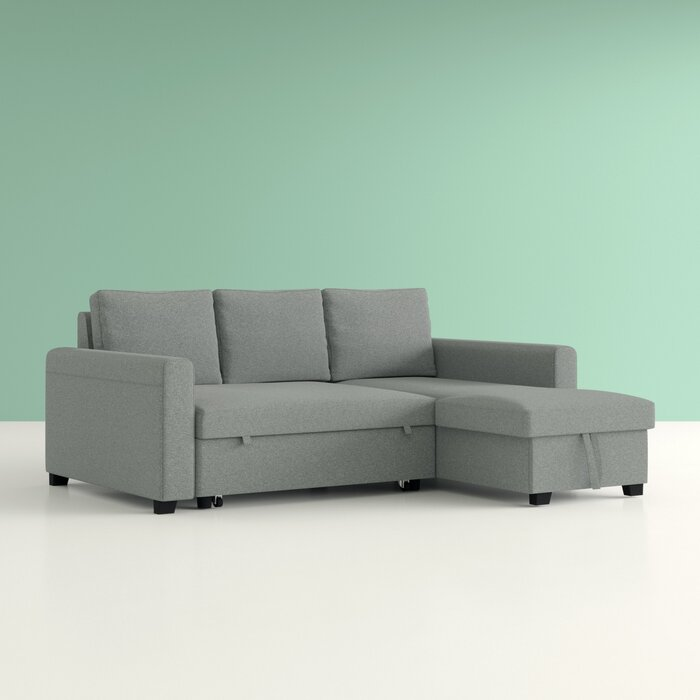 Marvelous Hendrick Pull Out Reversible Sleeper Sectional Gmtry Best Dining Table And Chair Ideas Images Gmtryco
