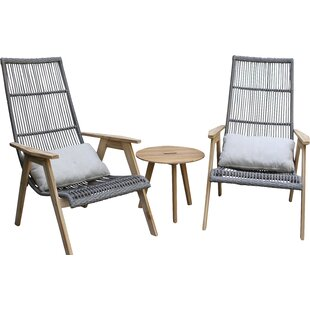 Largent Teak Patio Chair set with Cushions (Set of 2)  sc 1 st  AllModern & Modern Outdoor Lounge Chairs | AllModern