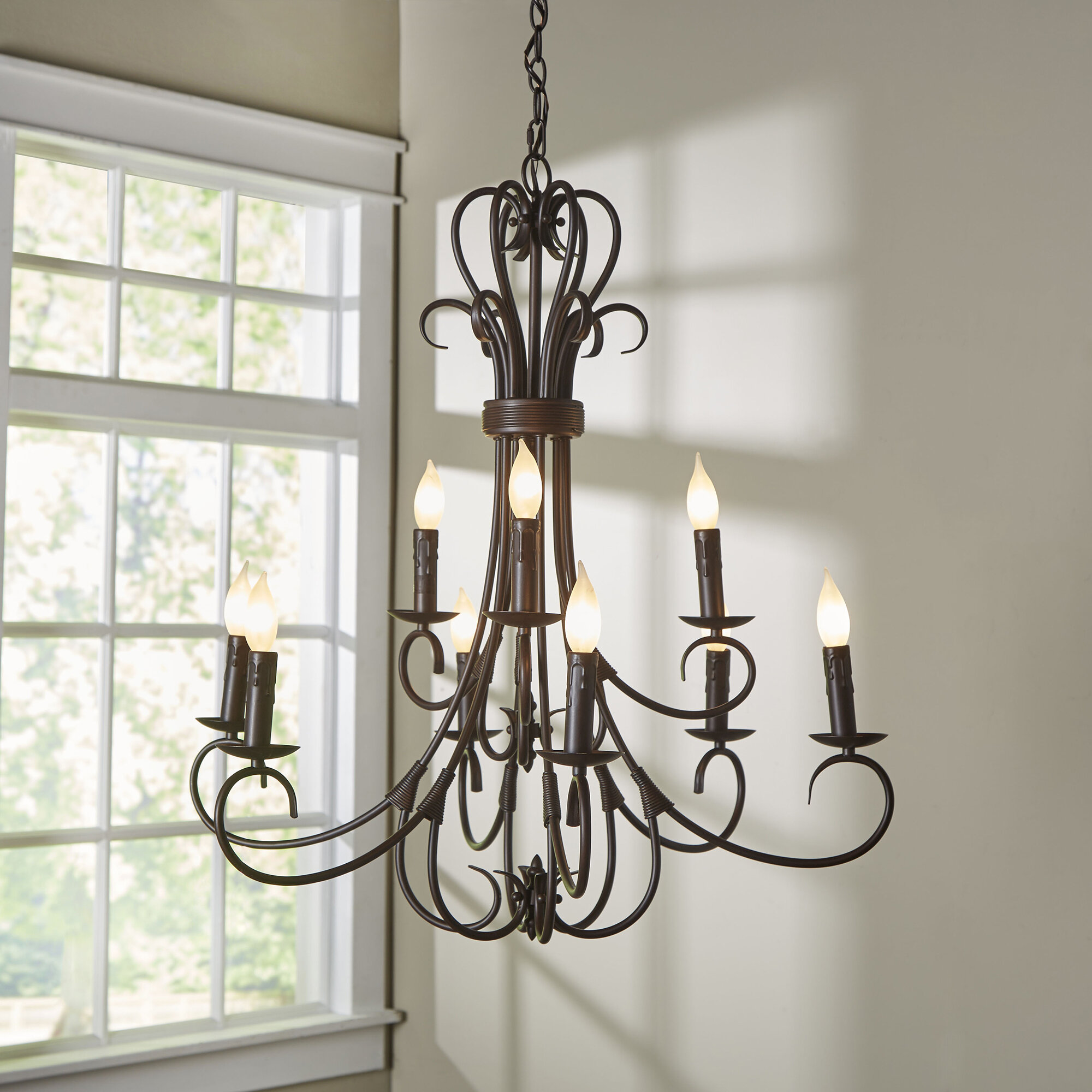 Alcott Hill Gaines 9 Light Candle Style Chandelier & Reviews