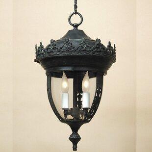 Price comparison Medium 3-Light Outdoor Hanging Lantern By JVI Designs
