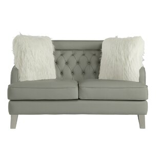Omar Upholstered Button Tufted Loveseat by Rosdorf Park