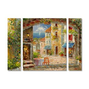 'Capri Isle' by Rio 3 Piece Painting Print on Wrapped Canvas Set