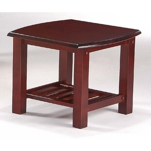 Barb End Table in Rosewood