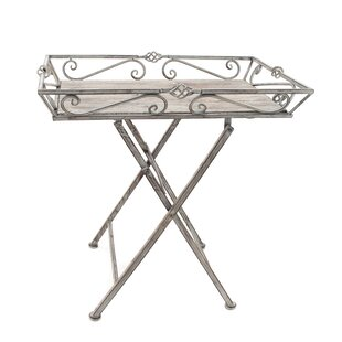 Ophelia & Co. Mayna Garden Folding Iron Side Table