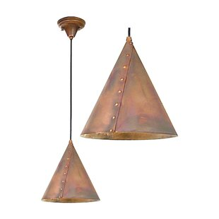 Meyda Tiffany Cone Rivet 1-Light Mini Pendant