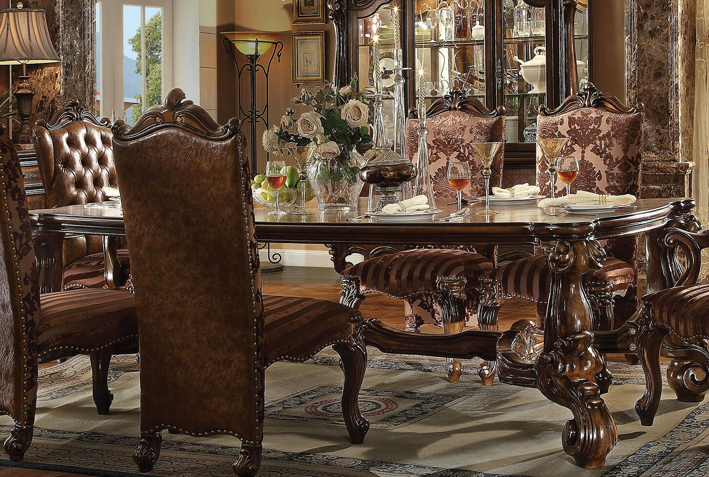 a j homes studio versailles dining table wayfair rh wayfair com versailles dining table barker and stonehouse versailles dining room norwegian star