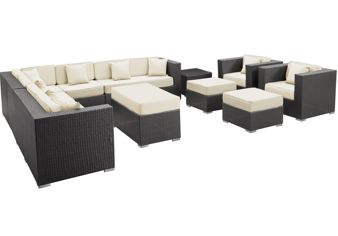 Coherence 11 Piece Outdoor Patio Sectional Set