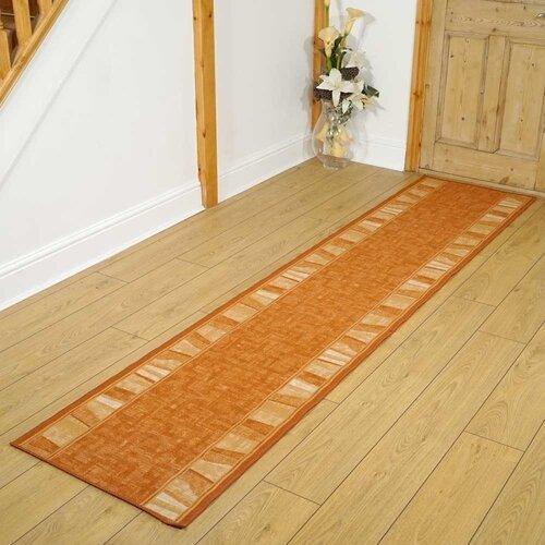 Tuncay Alba Looped/Hooked Orange/Beige Rug Latitude Run Rug