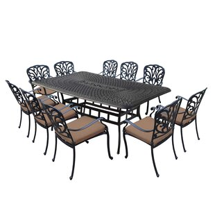 Darby Home Co Bosch Aluminum 11 Piece Dining Set with Cushions