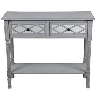 Tymir 2 Drawer Mirror Console Table by Ophelia & Co.