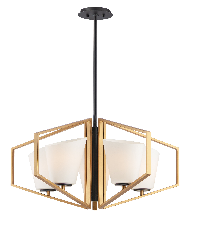 Everly Quinn Womack 5 Light Unique Geometric Chandelier Wayfair
