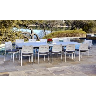 Ebern Designs Bemelle 13 Piece Sunbrella Dining Set with Cushions
