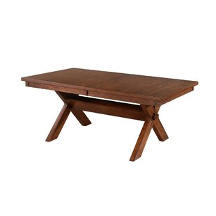 Laurel Foundry Modern Farmhouse Isabell Acacia Butterfly Leaf Dining Table