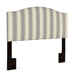 Joslyn Striped Upholstered Panel Headboard