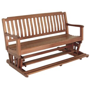 Teak Glider Bench by Whitecap Industries Today Sale Only