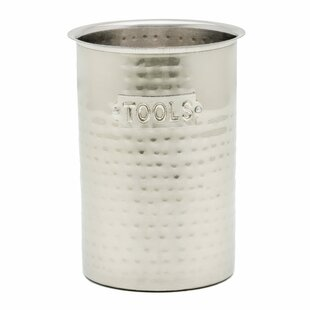 Hammered Stainless Steel Utensil Crock