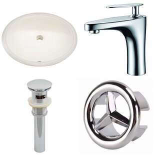 Looking for Ceramic Oval Undermount Bathroom Sink with Faucet and Overflow ByAmerican Imaginations