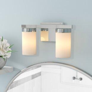 Curtsinger 2-Light Vanity Light by Ebern Designs
