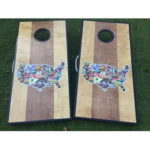 West Georgia Cornhole Dual Stained Craft Beer Custom 10 Piece Cornhole Set