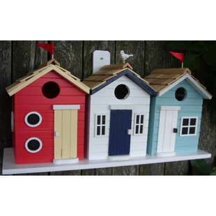 Home Bazaar Brighton Beach Huts 8.5 in x 17 in x 6 in Birdhouse