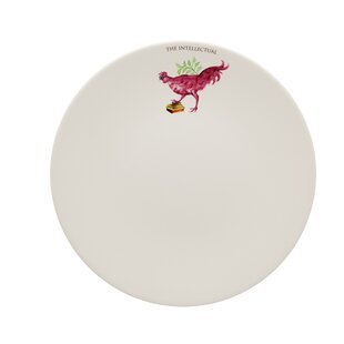 My Rooster Intellectual 11\  Dinner Plate  sc 1 st  Wayfair & Black And White Rooster Plates | Wayfair