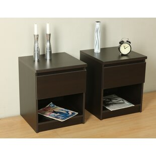 Peay Bedside Table (Set Of 2) By Mercury Row