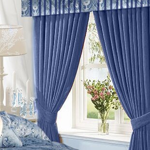 Damask Blackout Rod Pocket Curtain Panels (Set of 2) by Astoria Grand
