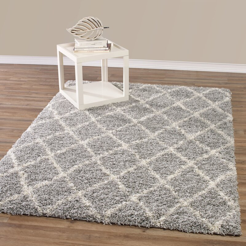 Bostrom Shag Gray/Ivory Area Rug