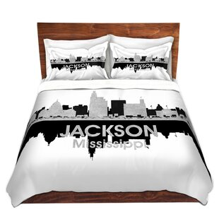 East Urban Home City IV Jackson Mississippi Duvet Set