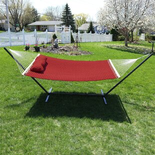 Angelo Quilted Designs Double Fabric 2 Person Hammock with Stand by Freeport Park