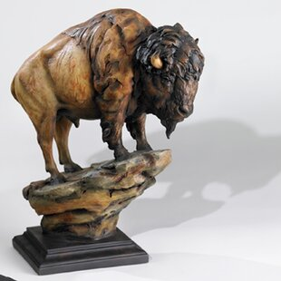 Historically Revered North American Great Plains Buffalo Statue Bison Sculpture