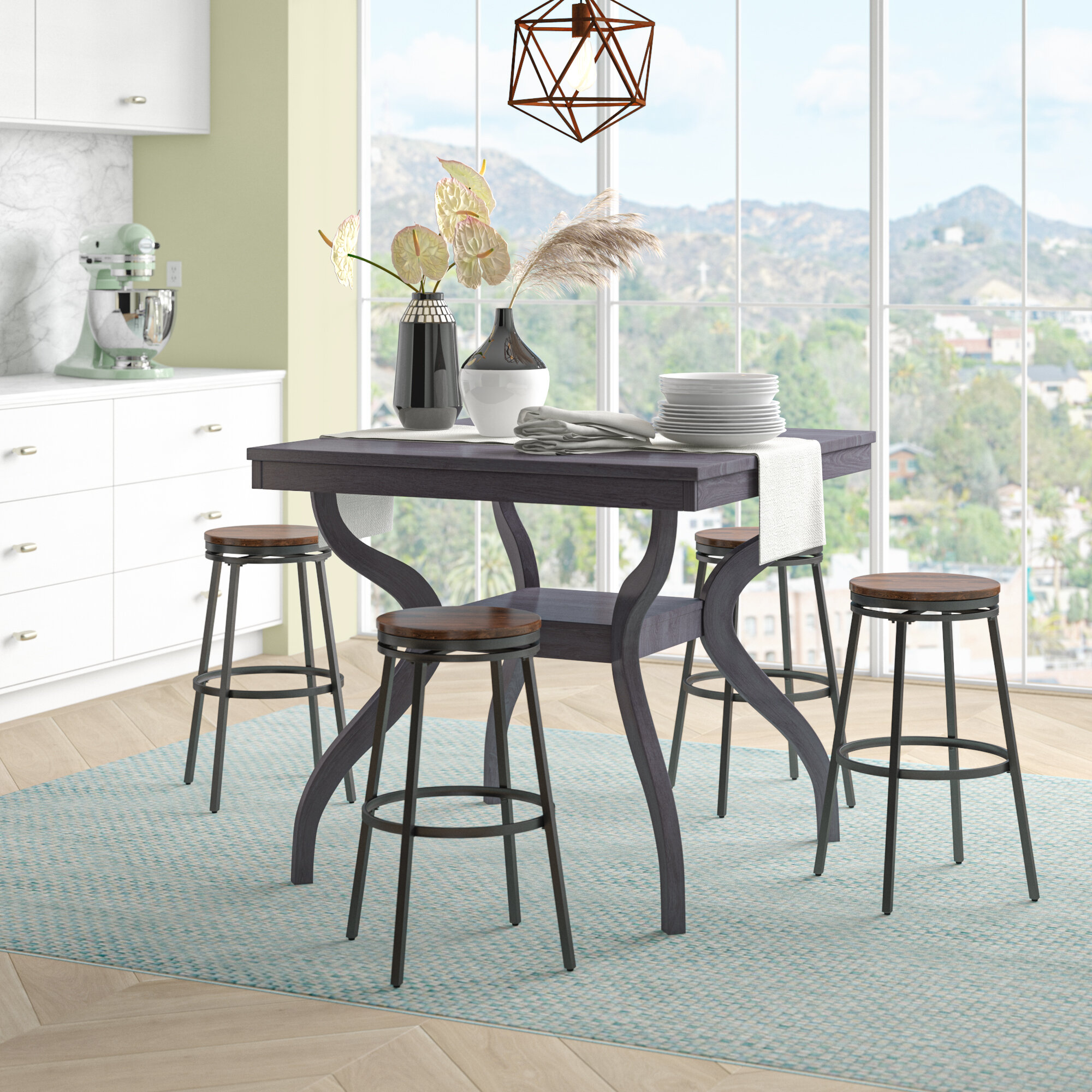 Darby Home Co Newton Counter Height Dining Table Reviews Wayfair