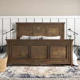 Sainte-Rose Weathered Oak Panel Bed by Laurel Foundry Modern Farmhouse
