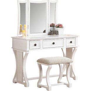Adelynnline Vanity Set with Mirror
