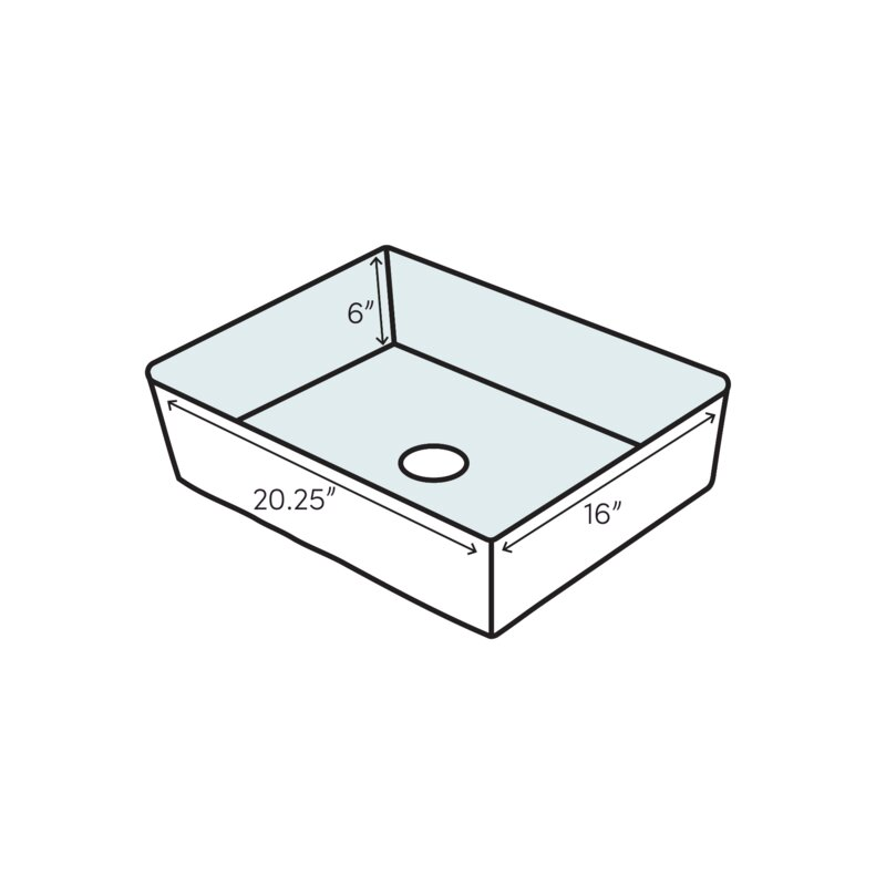 Boulevard Ceramic Rectangular Undermount Bathroom Sink With Overflow