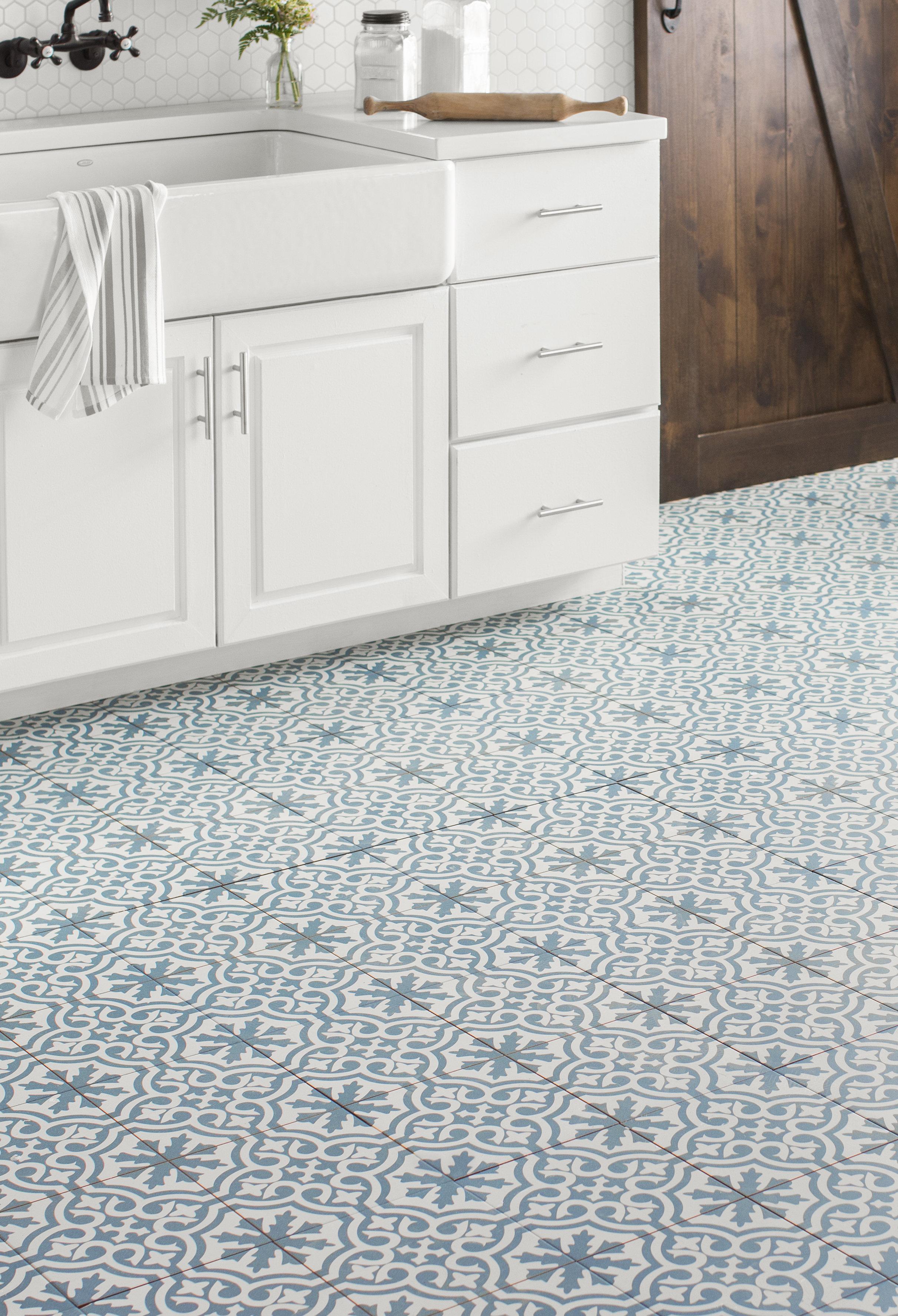 Elitetile Alameda 1763 X 1763 Ceramic Field Tile In Bluewhite