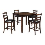 Carolina 5 Piece Counter Height Dining Set by Millwood Pines