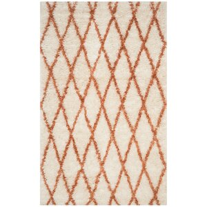 Lohan Hand-Tufted Ivory/Terracotta Area Rug