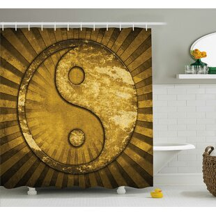 Beecher Yang Decor Grunge Gold Single Shower Curtain